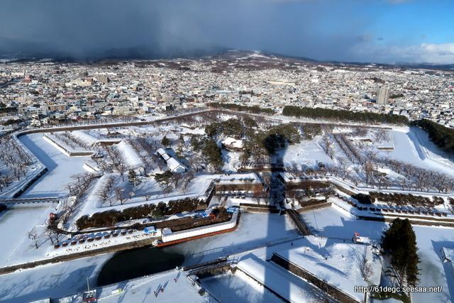 五稜郭雪景色