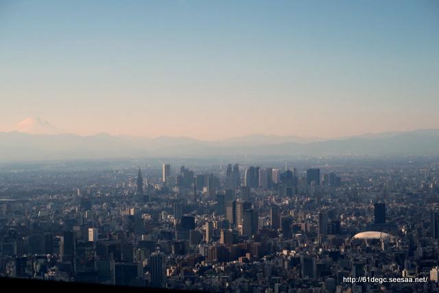 天望回廊から富士山を臨む