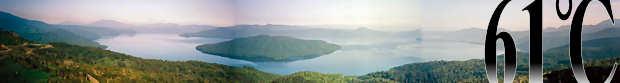 屈斜路湖全景