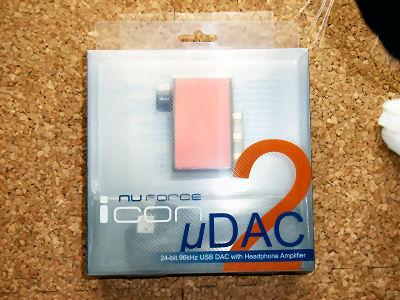 NuForce icon uDAC2 パッケージ