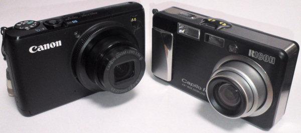 Canon PowerShot S95 と Ricoh Caplio R1