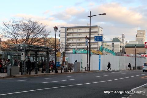 解体され更地となった盛岡バスセンター