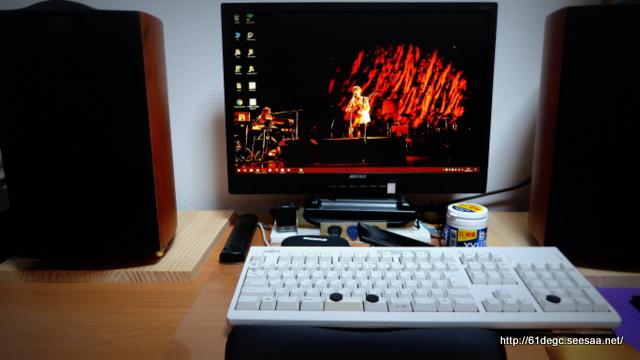 机上のキーボード環境